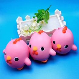 Wholesale Wholesale China Backpack - Simulation Chick Backpack Charms Cartoon Cute 10cm Squishy Slow Rising Soft Animal PU Squishies Pink Hot Sale 8 8bq B