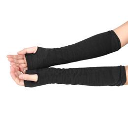 Armstulpen Frauen Nette Schutz Arm Warmer Lange Finger Stretchy Handschuhe Ärmel Mittens Solide Farbe Damen Bekleidung Zubehör