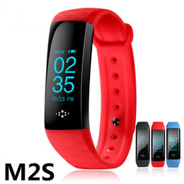 Wholesale Running Watches Heart Rate - New M2S Smart Wristband Blood Pressure Watch Blood Oxygen Heart Rate Monitor Bracelet Riding Running Mode Fitness Tracker Smartband