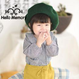 niña al por mayor camisetas Rebajas Lotus Leaf Collar Little Girls camisa de manga larga de algodón lindo abajo Blusa del bebé niñas Tops Tees niños ropa al por mayor