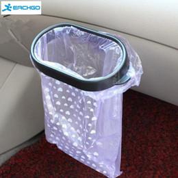 Wholesale Bin Bag Holders - Car styling Vacuum Base Garbage Bag Holder Trash Bag Rack Rubbish Bin Portable Plastic Car Trash Frame Holder Easy Dust
