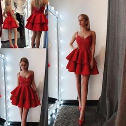 468a198bfd9c abiti rossi di ritorno a casa Sconti Little Red Mini abiti da cocktail  corti 2018 New