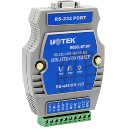 Wholesale port rs 232 - UT-501 Industrial RS-232 to RS-485 422 Port-Powered Converter with Isolation NO Power Photoelectric
