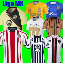 1643b29d6 Thailand 2018 2019 LIGA MX Club America CHIVAS Guadalajara UNAM TIGRES UANL soccer  Jersey Club de Cuervos Monterrey 18 19 football shirts