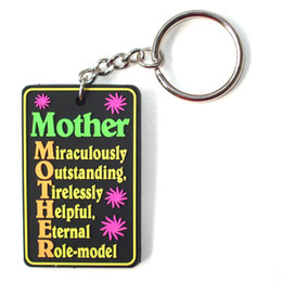 Wholesale voice logos - 2016 HOT Selling Key Chains Wholesale Custom 3D Cute Cartoon Mother's Day Logo Key Tag Soft PVC Rubber