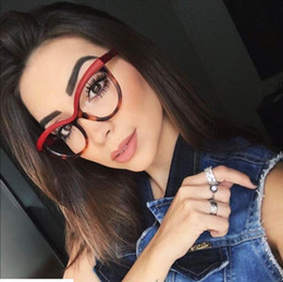 Wholesale myopia eyes - Fashion Cat Eye Reading Eyeglasses Optical Eye Glasses Frames Full Glasses Women Myopia Spectacles Ultra Light Frame Clear Glasses