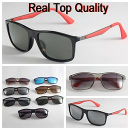 Wholesale rectangle driving lights - 4228-M brand sunglasses 2018 new arrival F design super light polarized lens for man woman with original packages, accessories, everything!
