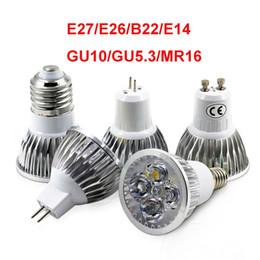 Argentina Potencia real de alta calidad Cree Bombillas Led E27 E26 B22 MR16 3W 4W 5W E14 GU5.3 GU10 Led Spot downlight lámparas Suministro