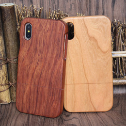 Wholesale High End Mobile Phone Cases - High-end Wooden Mobile Phone Case For iphone X 10 7 8 PLUS 6 6S 5 5S Custom Bamboo Wood Hard Cover Case Full Protection For Samsung S9 S8 S7