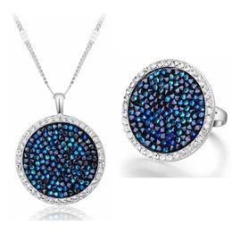 2018 nouveaux colliers de haute qualité réunion exagérée bague accessoires de mode féminine cristal de Swarovski ensembles de bijoux de mariage ? partir de fabricateur