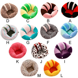 Wholesale Chair Seat Support - Colorful Baby Seat Support Seat Soft Sofa Cotton Safety Travel Car Seat Pillow Plush Legs Feeding Chair Baby Seats Sofa