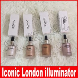 Wholesale Original Makeup - New Iconic London Illuminator Liquid Highlighters 4 Shades Original Shine Glow Illuminating Liquid Highlighting Contour Makeup