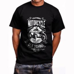 California Motosiklet Eski Okul Kulübü Bağbozumu erkek Siyah T-Shirt Boyutu S-5XL 2018 moda t gömlek% 100 pamuk tee gömlek toptan t ... cheap wholesale motorcycle t shirts nereden toptan motosiklet tişörtleri tedarikçiler