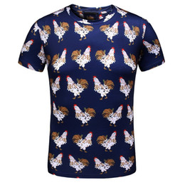 Wholesale Time Cock - Summer New Short Sleeve Male No Generation Seoul Leisure Time Cock Pattern Printing Pity High Archives Goods In Stock Rec shirts for men