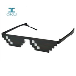 funny sunglasses Promo Codes - 2018 Fashion Deal With It Glasses 8 bits Thug Life Sunglasses Women Men Dealwithit Popular Around the World Party Funny Eyewear