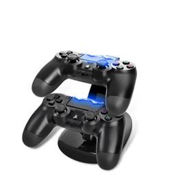 Новое прибытие LED USB ChargeDock док-станция подставка для беспроводной Sony Playstation 4 PS4 игровой контроллер зарядное устройство от Поставщики беспроводной адаптер xbox оптом