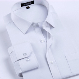 Wholesale High Quality Groom Shirts - Men's business shirt factory high quality customized single-breasted lapel professional pure white shirt the groom a