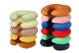 u cuello masaje Rebajas Masaje portátil almohada Venta al por mayor Multi-Color en forma de U cuello almohada de viaje promoción de alta calidad suave y suave almohada de felpa