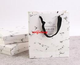cake packs UK - 50pcs lot Fast Shiping new moon cake gift bag marble snow niang egg-yolk puff green bean cake packing bag F052905
