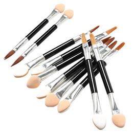 Aplicadores de sombra de olho esponja on-line-10 * Make-Up Eye Shadow Sponge Lip Escova Aplicador Maquiagem Tool Set