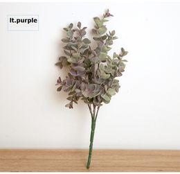 Wholesale Plastic Flower Arrangements - K15148 30CM Simulation Plastic Eucalyptus leaves Plant arrangements Wedding Artificial Flower Valentine's Day Decorative Flower