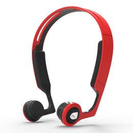 Auriculares para ciclismo online-Auriculares de conducción ósea Audífonos inalámbricos de oído abierto Auriculares estéreo Bluetooth a prueba de sudor con micrófono para correr, ciclismo de conducción