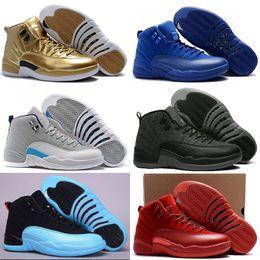 16eb5148d6a3 2018 nouvelles chaussures de sport 12 haut de gamme bleu royal en daim bleu  foncé 12s laine noir en nylon gym rouge français bleu Gamma Bleu Taxi  Chaussures ...