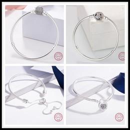 Diy pulseras venden online-La mejor venta de calidad superior hermosa plata de ley 925 serpiente pulsera de cadena Fit Pandora pulsera de plata encantos europeos perlas DIY encanto joyería