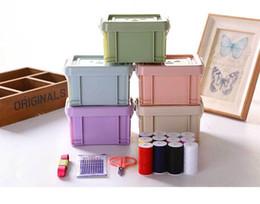 Scatola di aghi pacchetto famiglia cucito a mano portatile piccolo kit da cucito femminile studente dormitorio high-end manuale fai da te da