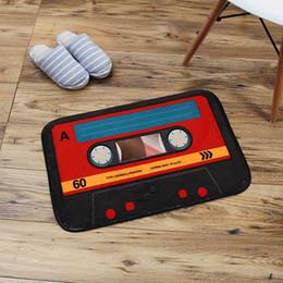 prix du revêtement de sol Promotion 40x60 cm Retro Music bande tapis tapis chambre tapis anti-dérapant Tapis super doux antistat décoratif tapis pour salon