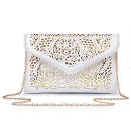 2017 Women's Clutch Handbags Envelope Hollow Out Messenger Bags Pu Leather Cut Out Lady Clutches s Females Shoulder Bags cheap cut out leather bag от Поставщики вырез кожаный мешок