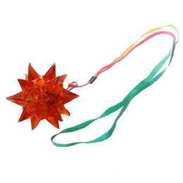 Wholesale Led Light Up Necklace - New Light-Up Flashing Star LED Ball Pendant Necklace