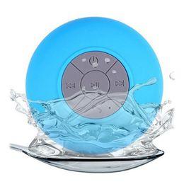 Mini beweglicher subwoofer drahtloser bluetooth lautsprecher online-Mini Tragbare Subwoofer Dusche Wasserdichte Drahtlose Bluetooth Lautsprecher Auto Freisprecheinrichtung Erhalten Anruf Musik Suction Mic
