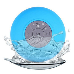 Subwoofer bluetooth portátil online-Mini portátil subwoofer ducha impermeable Bluetooth altavoz manos libres para automóvil recibir llamada Music Suction Mic