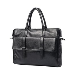 7433375a57da 2018 New Arrival Fashion Briefcase Men s Business Bags Casual Genuine  Leather Messenger Bag For Men Sacoche Office Work Package