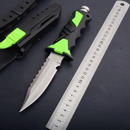 нож исправить военных Скидка Военный фиксированный лезвие нож резиновая ручка 440c лезвие 58HRC открытый тактический кемпинг охота выживания карманные EDC инструменты леггинсы дайвинг нож