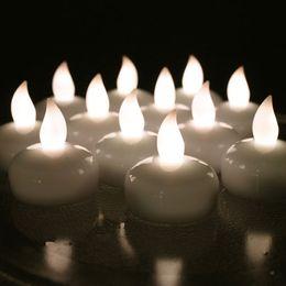 2019 glückliche katze leuchtet Wasserdichte LED Teelicht Batteriebetriebene Schwimmende Flammenlose Tee Kerzen Licht für Hochzeit Geburtstag Weihnachtsfeier Dekoration