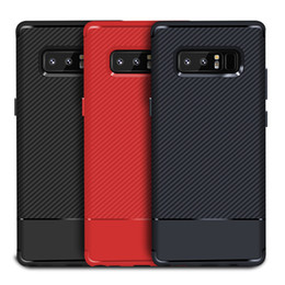 Wholesale Carbon Fiber Tpu - Rugged Armor Defender Robot Carbon Fiber Shockproof Protective Soft TPU Cover Case For iPhone X 8 7 Plus 6S Samsung Galaxy S9 Plus S8 Note 8
