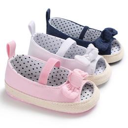 chaussures pointillées par les enfants Promotion 2018 Été Bébé Infantile Enfants Fille Doux Solide Dot Chaussures Casual Bowknot Toddler Sandales Pour Fille