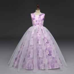 890a36ed2d6b6 robe d été bébé violet Promotion robe de fleurs 2018 nouvelle arrivée vente  chaude d