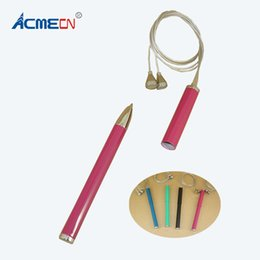 Wholesale Funny Necklaces - ACMECN Newest Brand Ballpoint Pen with Lanyard Pocket size Mini Metal Ball pen Cute Design Funny Necklace Magnetic Hanging