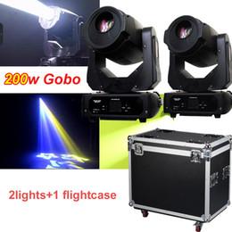 Goborad online-neue hotsales Qualität führte 200w Gobo Punkt-bewegliches Rad des Kopf-2Gobo / FOCUS / 3 Prisma 2lights mit flightcase
