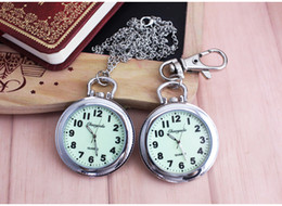 Wholesale Moonlight Necklace - Clip Nurse Doctor Moonlight Pendant Pocket Quartz Watch Fob Hanging Medical women men students necklace pocket watch