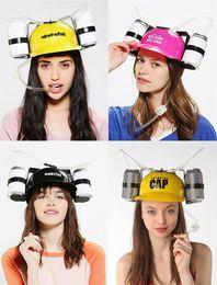 2019 cappello da bere da casco Lazy Helmet Beverage Holder Cap Creativo Plastica Bere Cappello Cosplay Prop Bambini Regali Multi Colore 10ch C R cappello da bere da casco economici