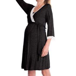 Pflegender nachtwäsche online-Schwangere Frauen Mutterschaft Pyjamas Nachthemd Pflege Stillen Soft Sleepwear