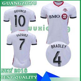d5584c7f4 News 2018 2019 Toronto Away Soccer Jersey 18 19  10 GIOVINCO  4 BRADLEY  17  ALTIDORE White Soccer Shirt Customized MLS Football UniformS-XL
