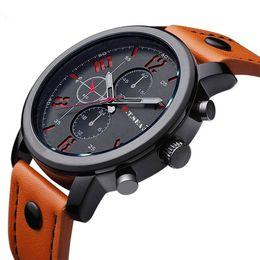 Лучшие спортивные наручные часы онлайн-O.T.SEA Fashion Watches Men Casual  Sports Watch Quartz Analog Wrist Watch Clock Male Hour Relogio Masculino Best Gift