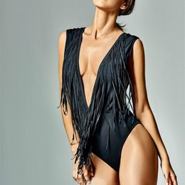 Wholesale Sexy Matures - Best Sellers Sexy Bikini Bathing Suit Fashion Tassel One Piece Swimsuit Women Swimwear Mature Bikinis For Lady 23xo W