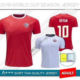 179a47630 Thailand 2018 World Cup Costa Rica Soccer Jerseys BRYAN C.BORGES M.URENA  2019 Costa Rica National Team home away football shirt