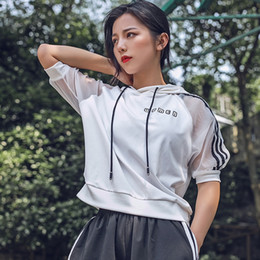 HY SEVEN Donna Yoga Giacche Felpa con cappuccio Abbigliamento da palestra Mezza manica Camicie da corsa Giacca da jogging Donna Fitness Maglie magliette da abbigliamento di prodotti secchi fornitori